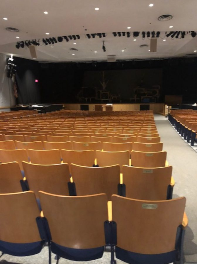 Ferrini Auditorium at Hamilton Wenham High School.