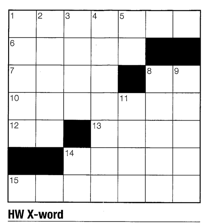 Crossword #1