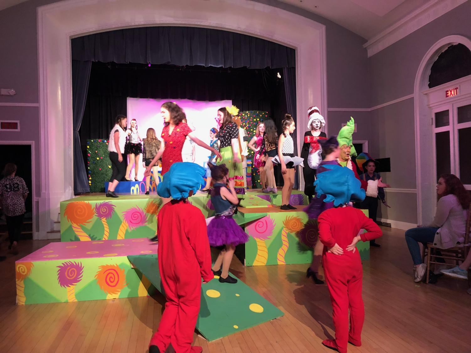Seussical The Musical in rehearsal fo the big debut.