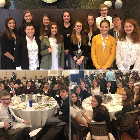 DECA members at the Fall State Leadership Conference on October 17, 2018.