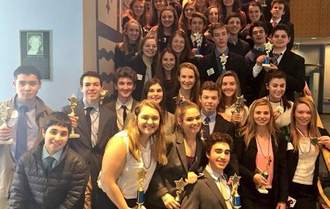 DECA members at the 2017 District competition.