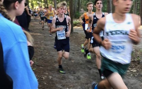 Freshman boys Luke McMahon and Micah Katz are spotted running in navy blue at Oceanstates in Rhode Island.