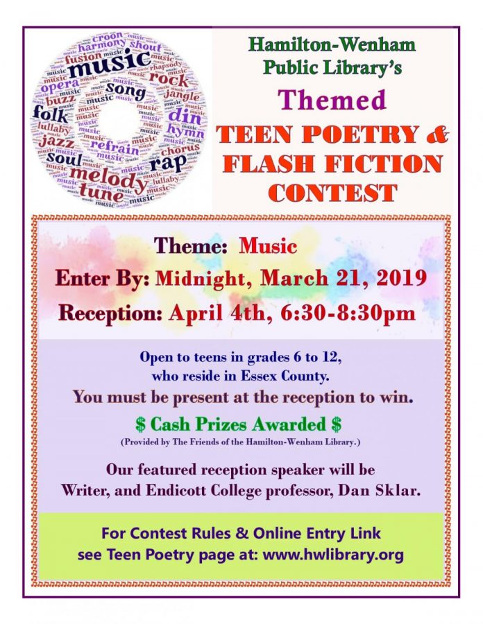 Hamilton+Wenham+Library+teen+poetry+%26+flash+fiction+contest