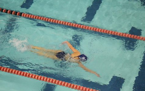 Sophomore Taylor Massimi swims the Girls' 200 freestyle.