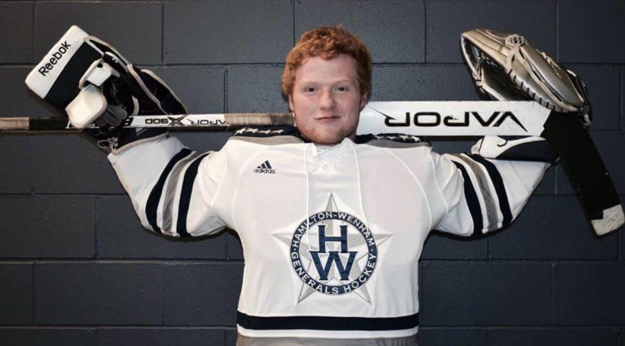 Varsity goalie, Finn Brophy.