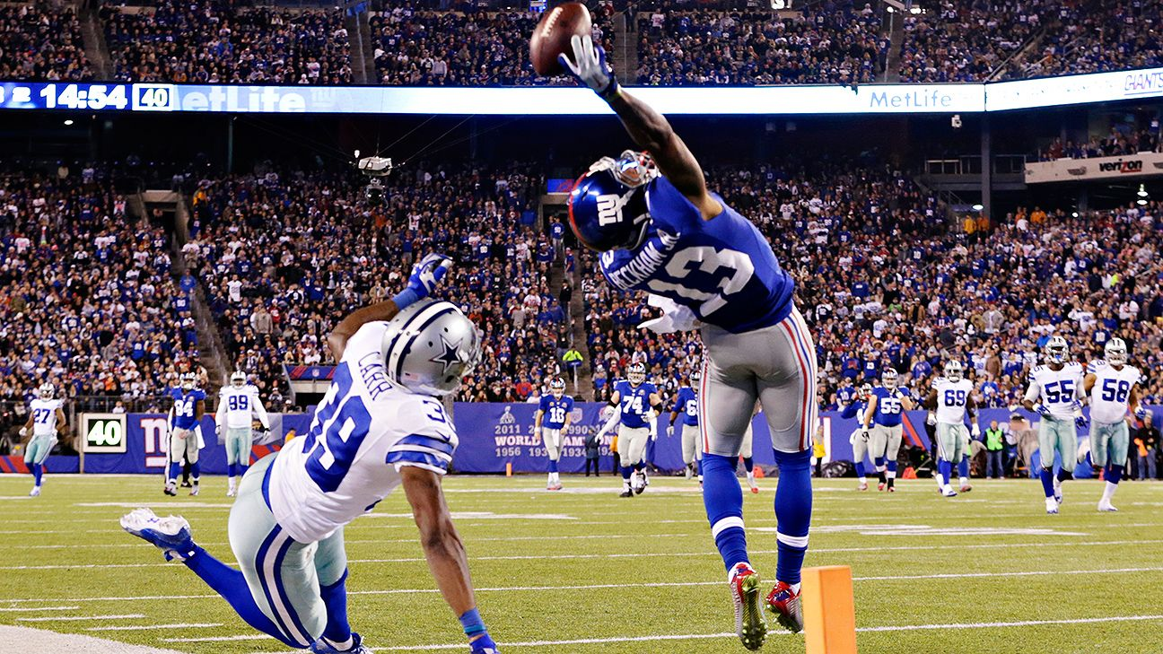 Odell Beckham's famous one-handed catch from Nov. 23, 2014, One of millions of great sports plays that could be written about.