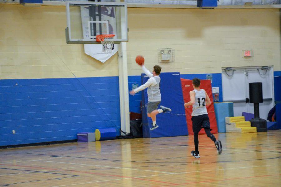 Sam Webber ('19) flying.
