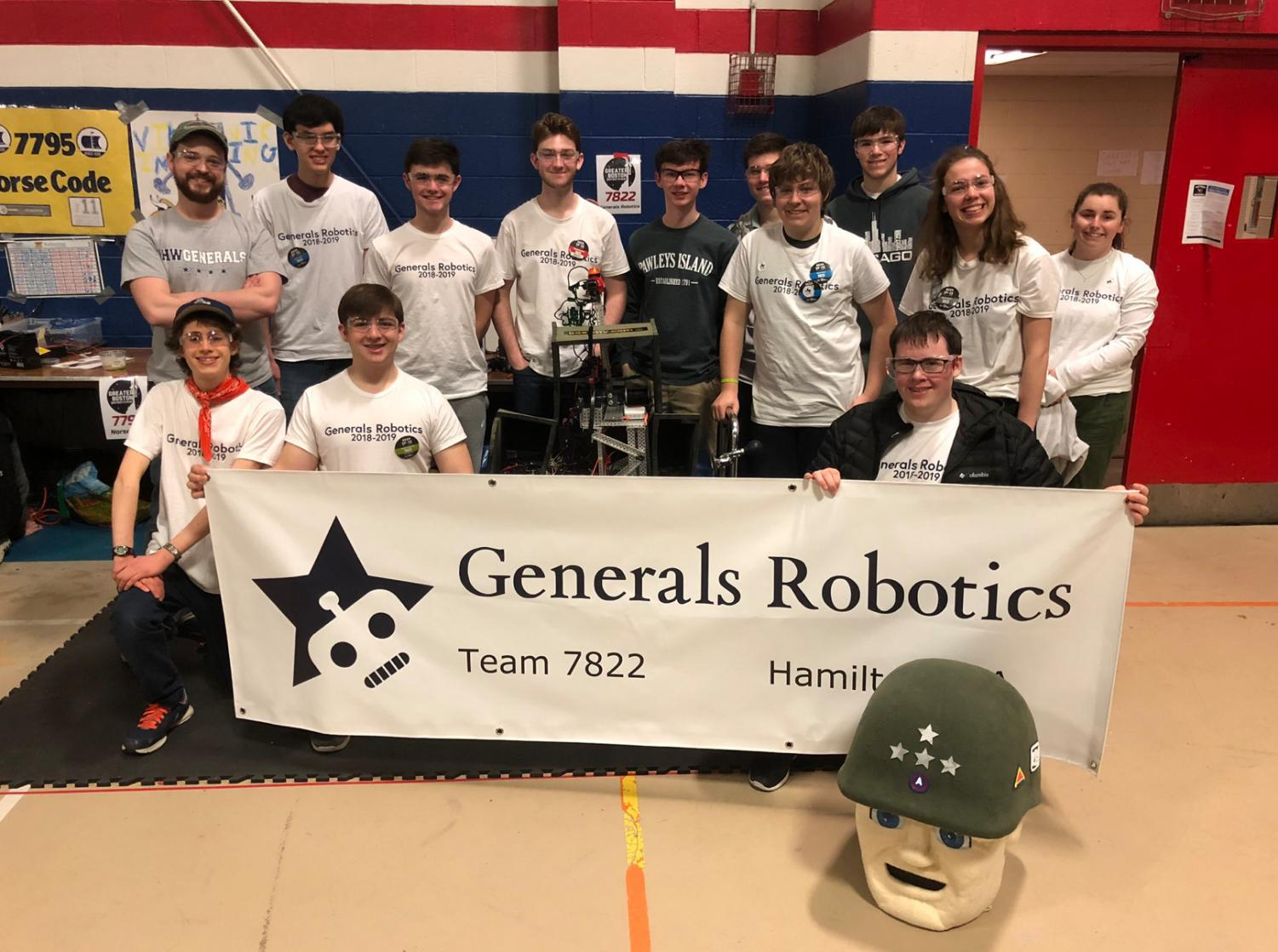 Part of the Generals Robotics team at their competition in Revere, Ma.