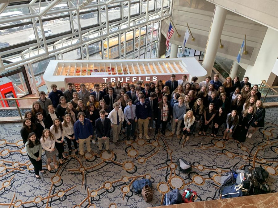 2018-2019 Hamilton-Wenham DECA members who attended states in Boston this past March.