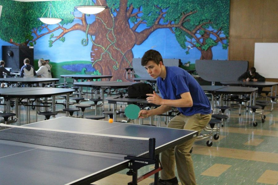 Will Hogan ('19) playing ping pong