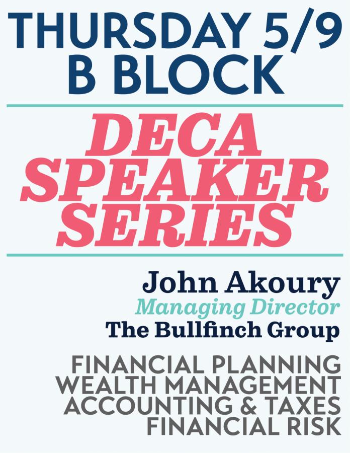 DECA Speaker Series May 9th