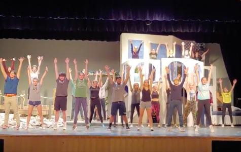 Students rehearse for Mamma Mia!
