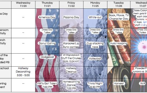 Dress up and Dress Down Days of Spirit Week