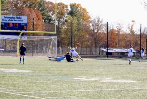 Generals scoring a goal against Bedford