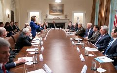 President Donald J. Trump meets with House Speaker Nancy Pelosi and Congressional leadership