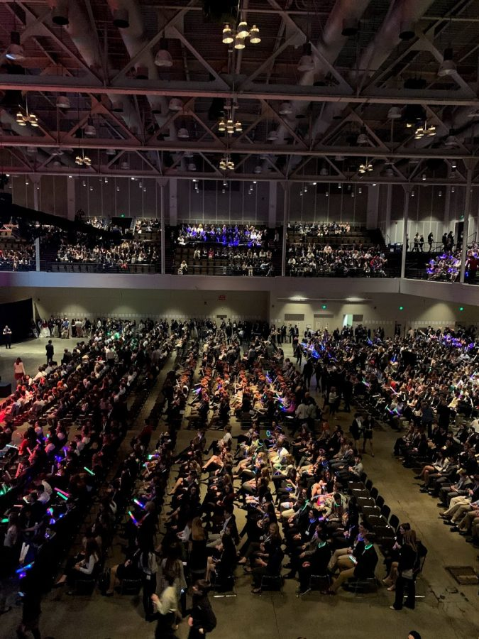 View of all the students attending the States Conference