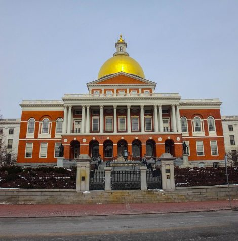 The Massachusetts State House, where some protests were held. Photo by TanRo via Wikimedia Commons.