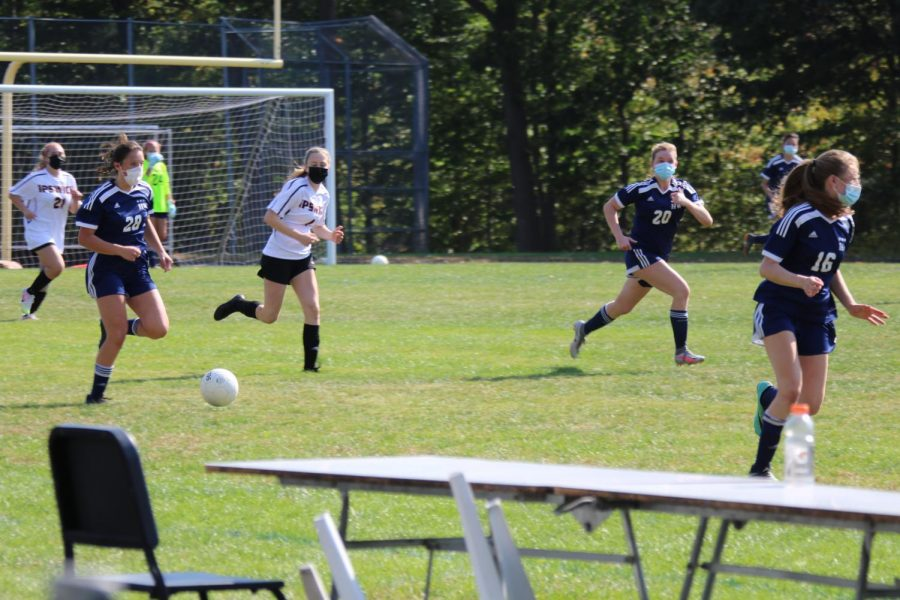 Hamilton Wenham JV 1 girls soccer team in their recent game against Ipswich
