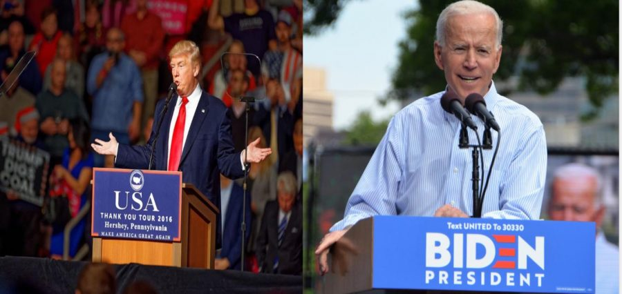 Trump and Biden as Election Day gets closer.