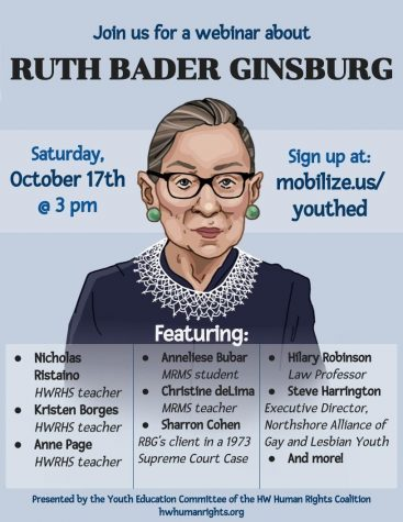 The Hamilton-Wenham Human Rights Coalition's Youth Education Committee hosted a webinar on Ruth Bader Ginsburg