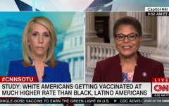 CNN reporter Dana Bash interviews Rep Karen Bass about how systemic racism is influencing vaccination distribution