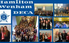 Collage of DECA students.