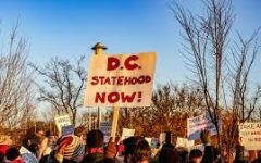 Citizens of the District of Columbia protest and call for Statehood.