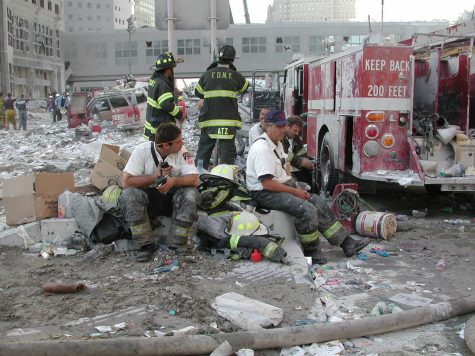Firefighters of the FDNY on September 11, 2001, after the Twin Towers fell to the ground.